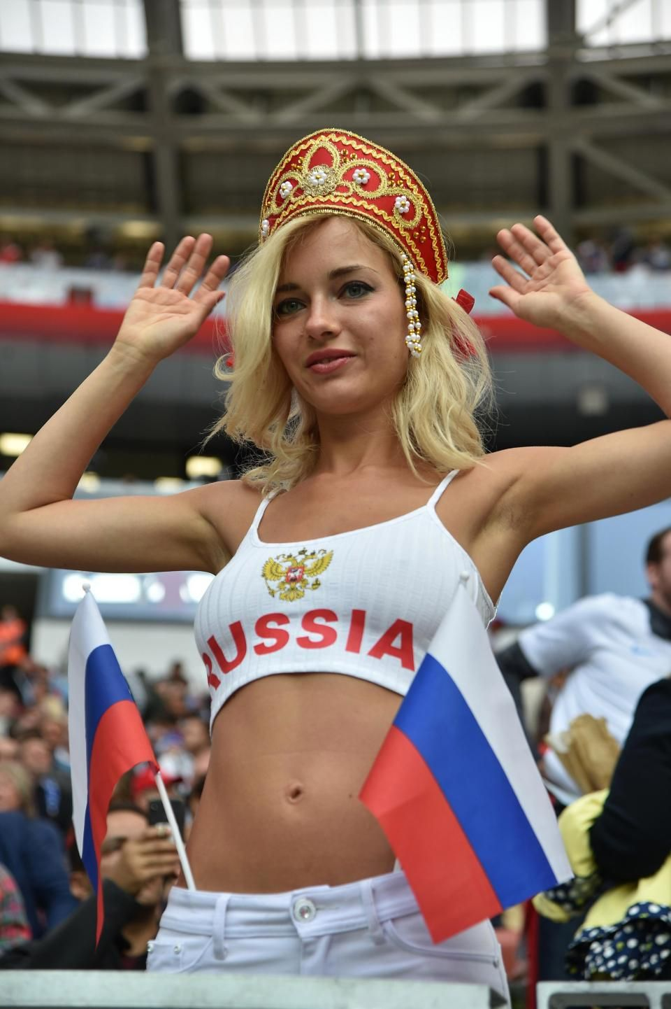 Stunning Female Russia Fans Don Tiny Tops While Saudi Women Wear