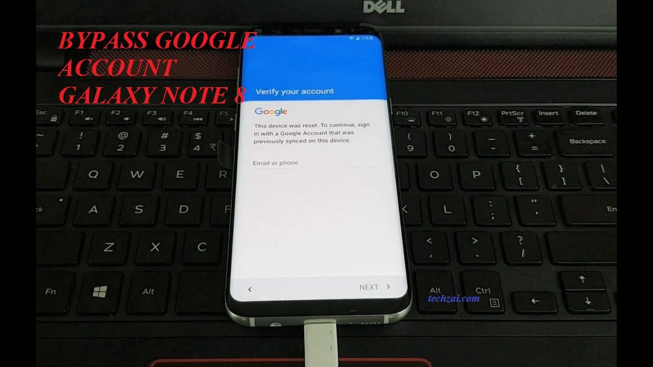 How To Remove Google Account For Samsung Galaxy Note 8 (Updated