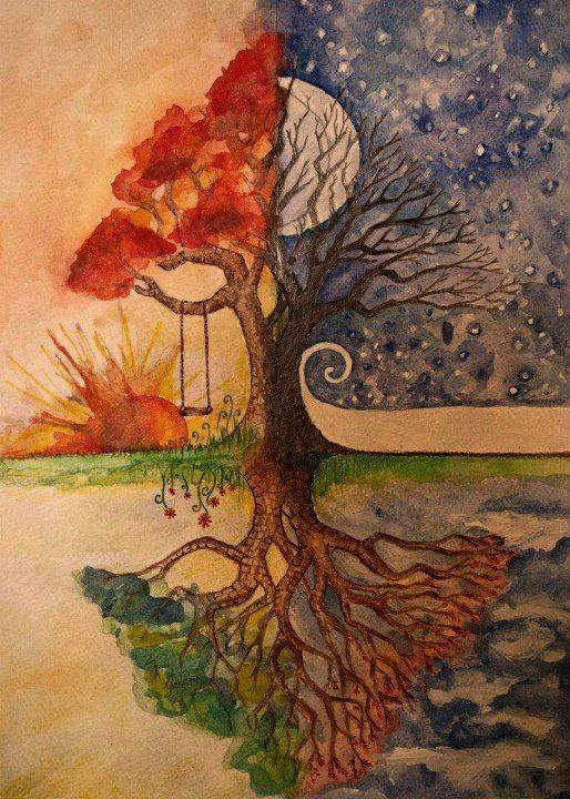 Seasons Change   Tree art, Seasons art, Art