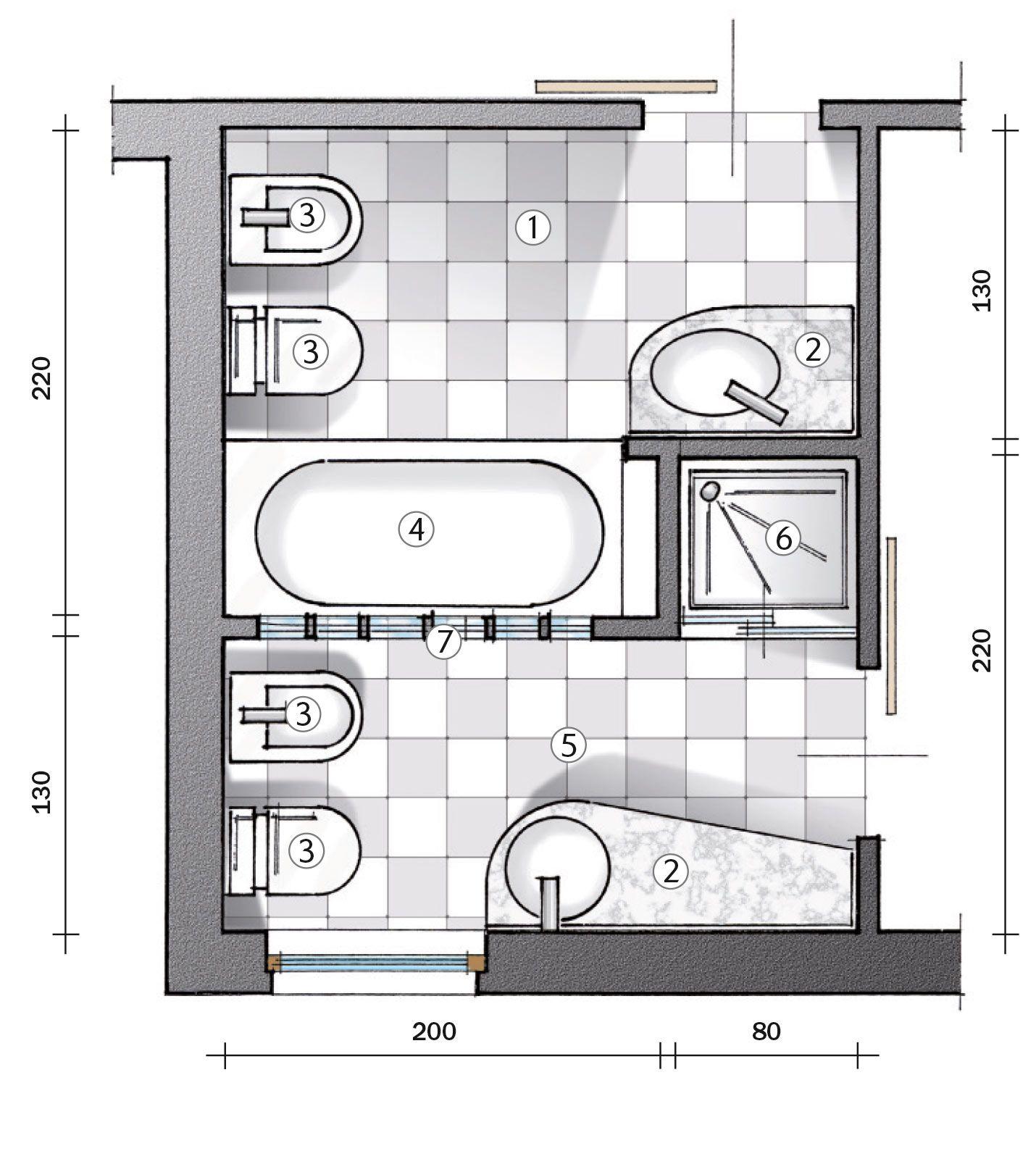 Ricavare il secondo bagno. Il progetto | Matrimoniale, Bagno e Bagni