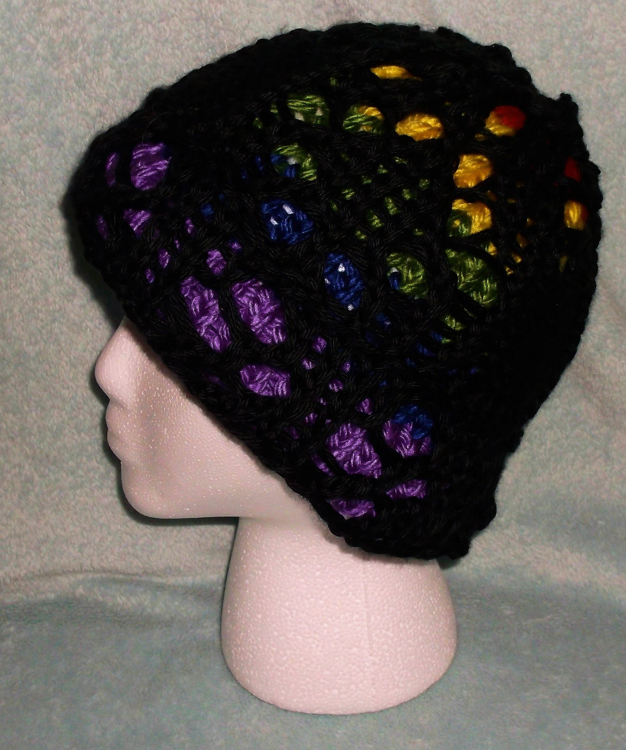 How to Loom Knit a Lace. Stained Glass Hat | Glass, Loom knitting ...