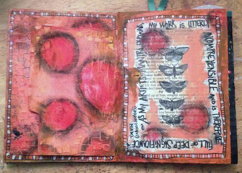 Cardboard Art Journal 2 - Cover