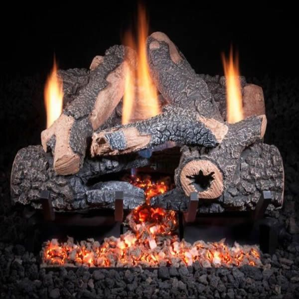 Golden Blount Charred Bonfire Ventless Gas Log Set Ventless Gas