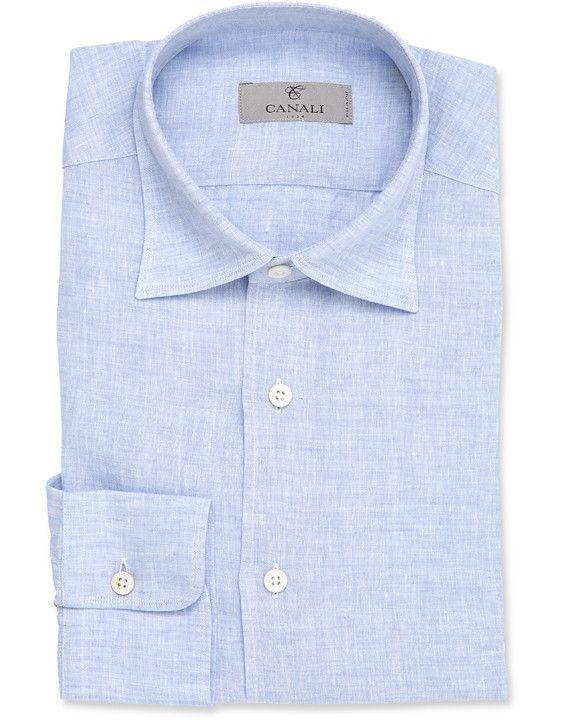 Enjoy Shopping Mélange Linen Shirt Canali Sale Visit New Cheap Clearance qPFQ2w