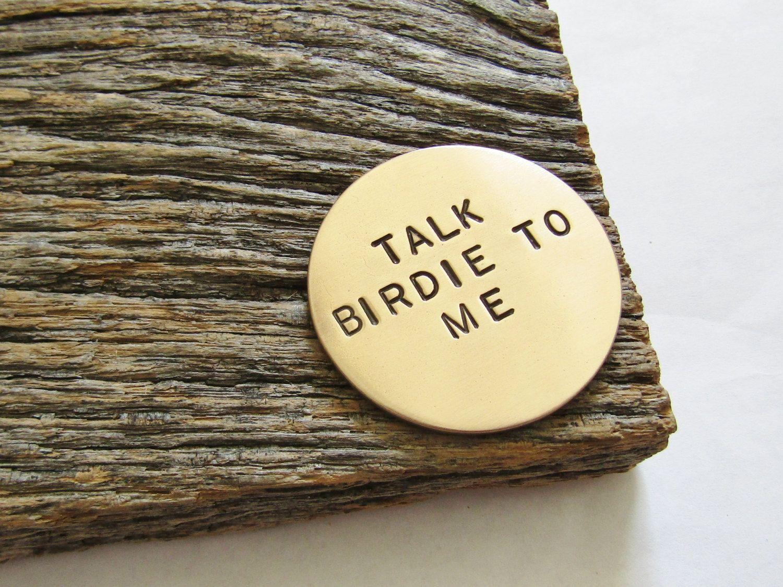 Talk Birdie To Me Golf Ball Marker Christmas Gift Golfer Gift ...