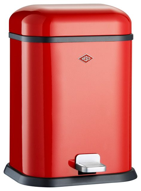 Red Kitchen Trash Can Large Window Curtains 8 Ball Club In