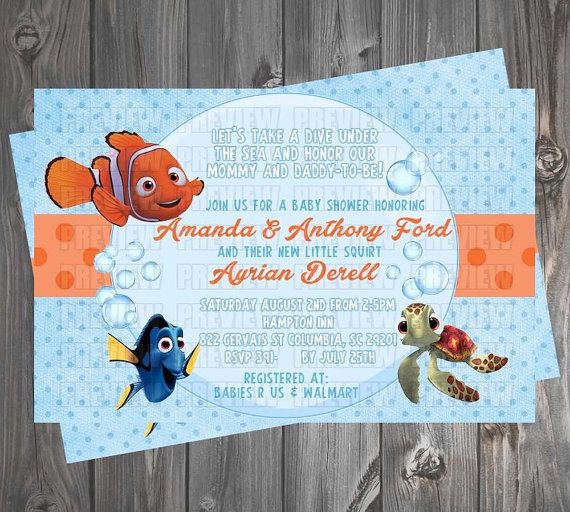 Attractive Finding Nemo Baby Shower Invitation By EmiJaiDesigns On Etsy