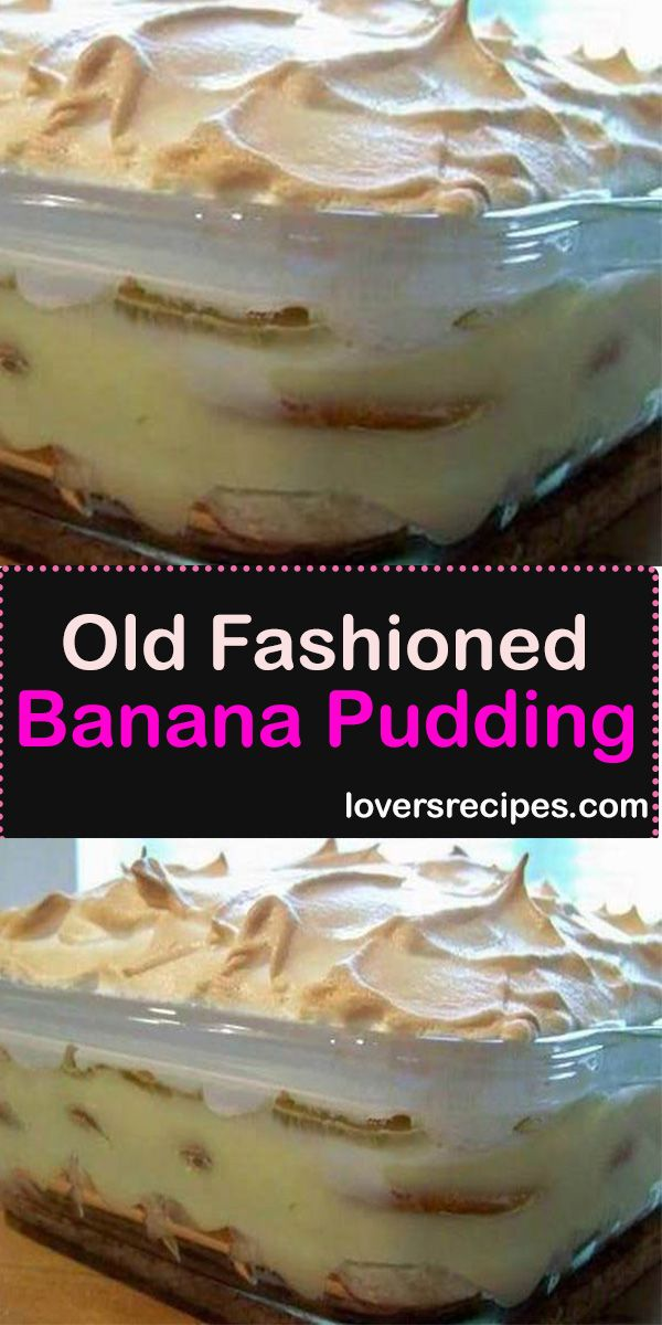 Old Fashioned Banana Pudding #old fashioned banana pudding #old fashioned #banana pudding #bananapudding