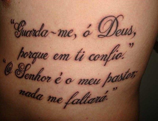 Frases Perfeitas Para Tatuagens Escritas Fontes E Ideias