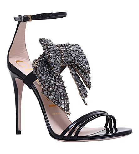4df63f0ff GUCCI - Ilse embellished patent-leather sandals