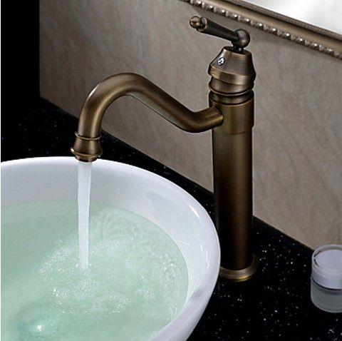 classique antique bronze finition salle de bains robinet d évier