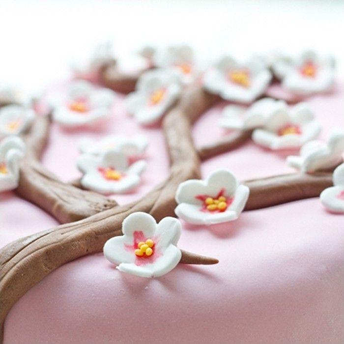 Sugar paste cherry blossom tutorial / Tuto fleurs de cerisier en pâte à sucre