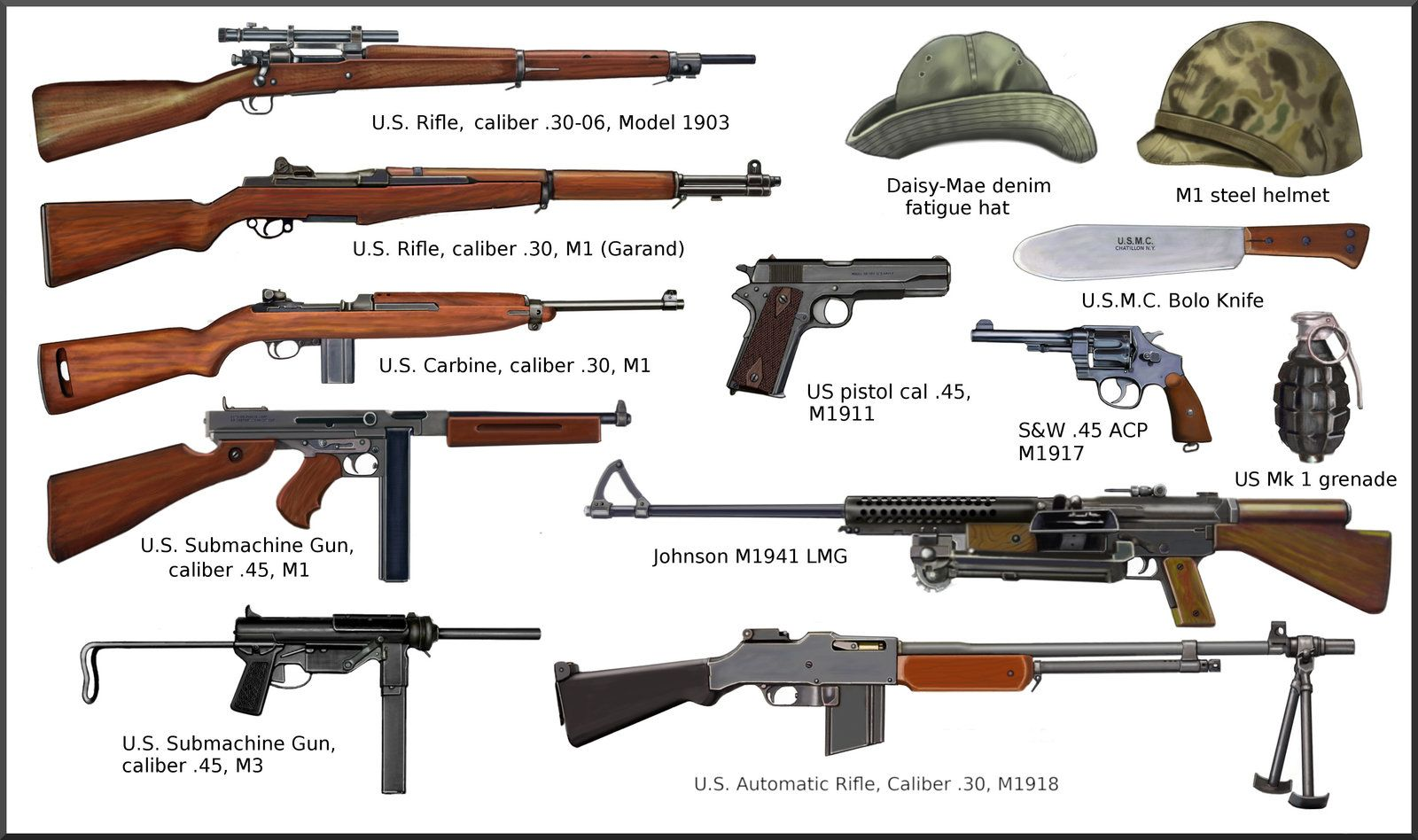 US Army Air Force at the beginning of WW2 > WW2 Weapons