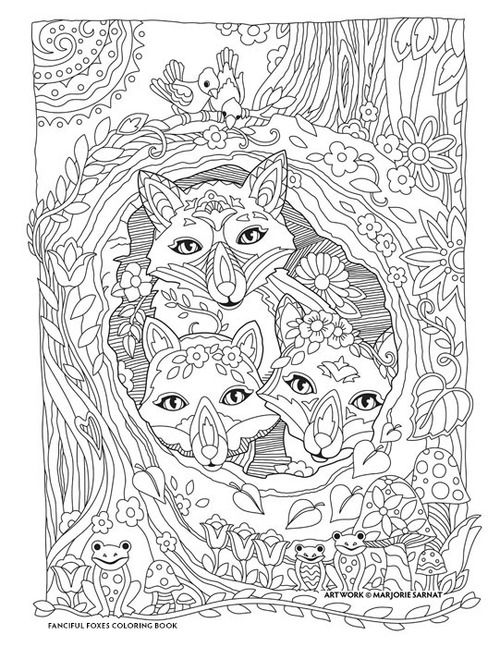 hiding in hollow_FINAL | Coloring books, Creative haven