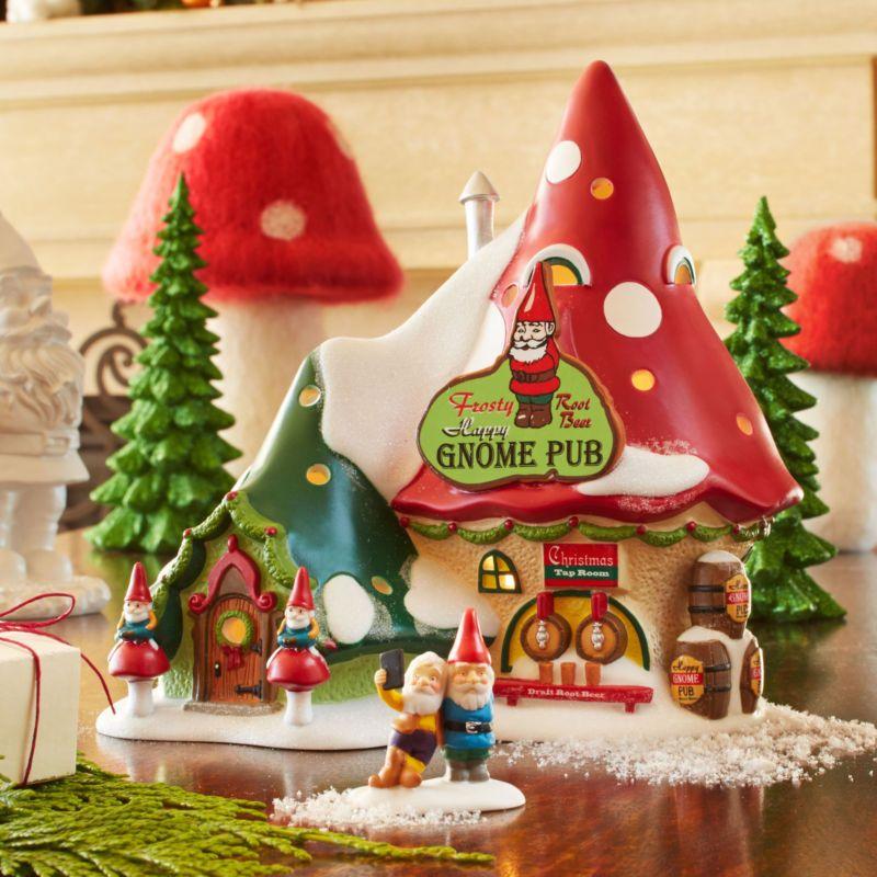Dept 56 North Pole Snow Village Series The Happy Gnome Pub