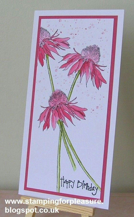 Charming Card Making Ideas With Flowers Part - 8: Tim Holtz Flower Garden Card By Sarn