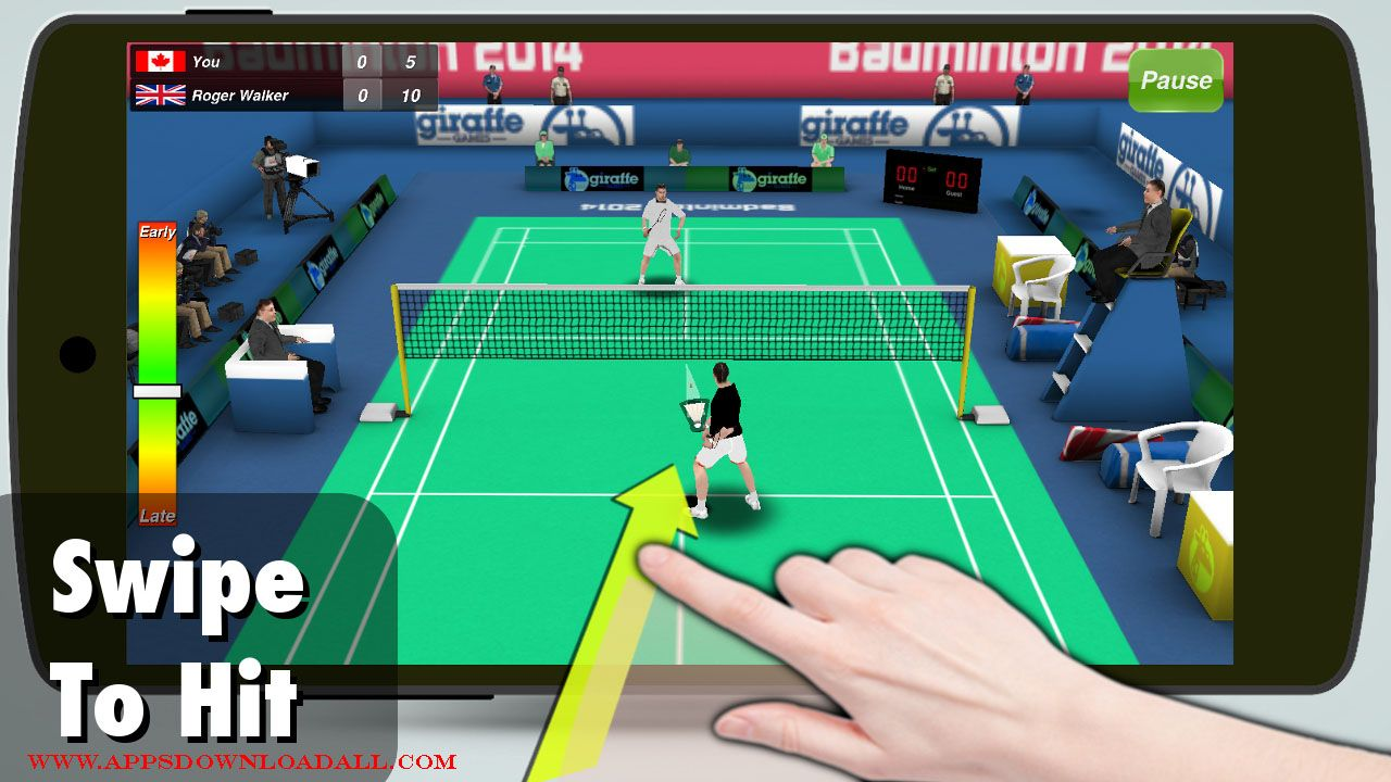 Badminton 3D latest version on Appsdownloadall for free