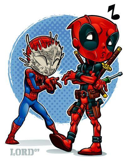 Lil Deadpool 'n' Spidey