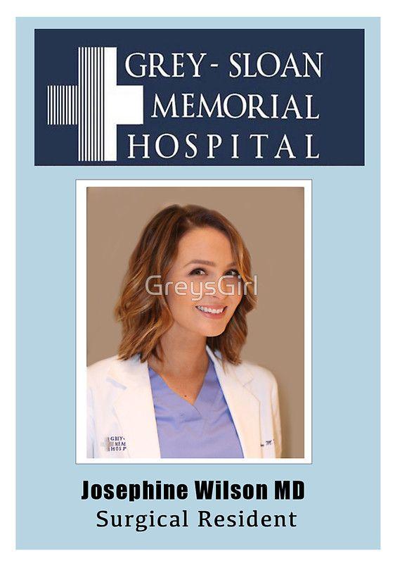 Greys Jo Wilson Badge Jo Id - Funny Grey's Anatomy Costumes