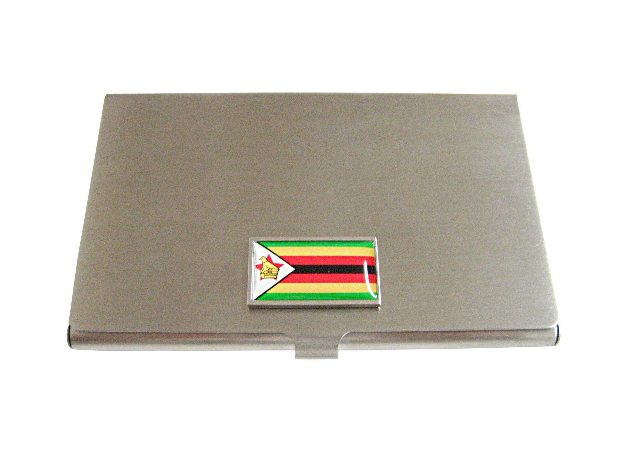 Thin bordered zimbabwe flag business card holder business card thin bordered zimbabwe flag business card holder reheart Image collections