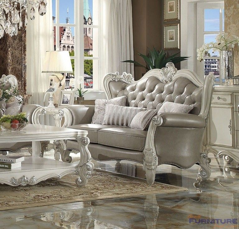 Acme Furniture Versailles Loveseat with Pillows Included