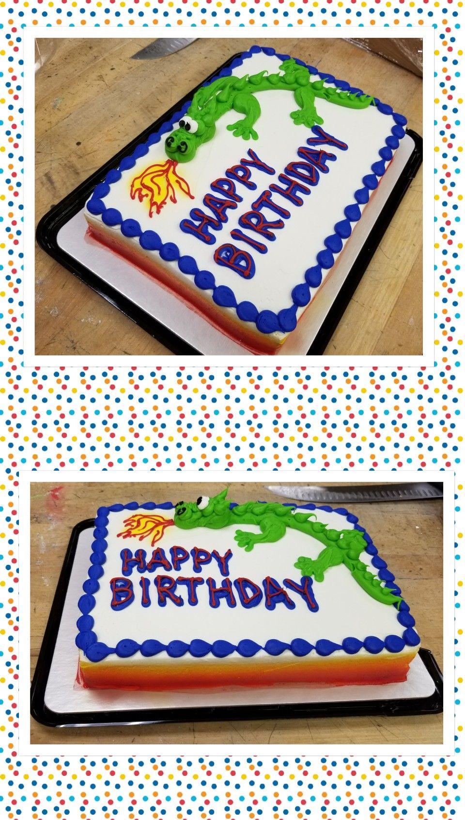 Dragon sheet cake | Sheet cake, Cake decorating