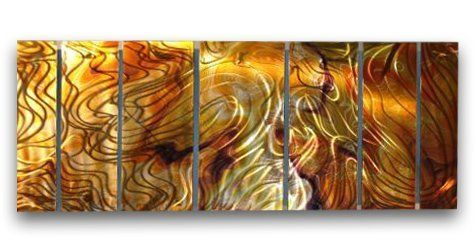 """102x36 Contemporary Metal Wall Decor - Unique Artwork - Modern Painting , contemporary home decor, modern wall sculpture by ASH CARL DESIGNS. $883.20. Hangs in 15 minutes!. Size: 36"""" T x 102"""" W Inches. Corrosion Resistant Finish. High Quality Welded and Bolted Construction. Painted Steel. This artwork is composed of 7 different panels! It features an amazing array of colors and handsanded detail!Thank you for taking the time to view our artwork! Our work is collected i..."""