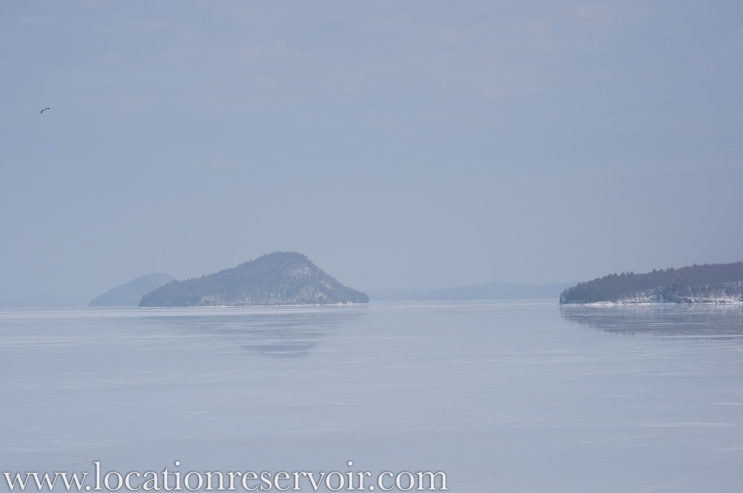 The Quabbin Reservoir looking mysterious in February, 2011.