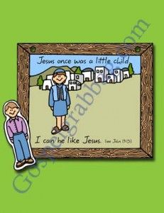 Picture Of Jesus And Me Primary Lessons Nursery Little Ones