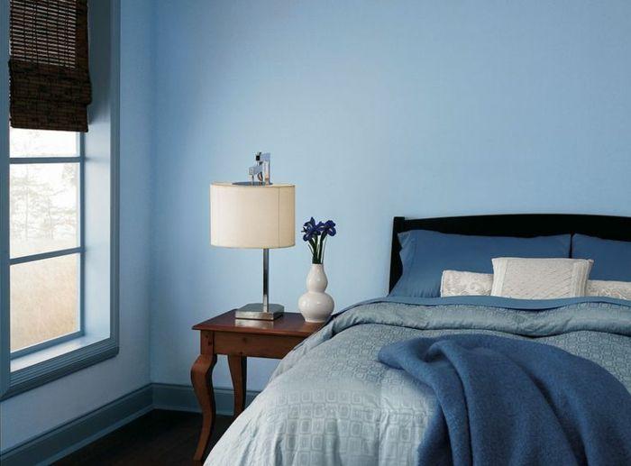 1001 ideas sobre colores para habitaciones en tendencia cama matrimonio mesa vintage y - Decoracion de paredes pintadas ...