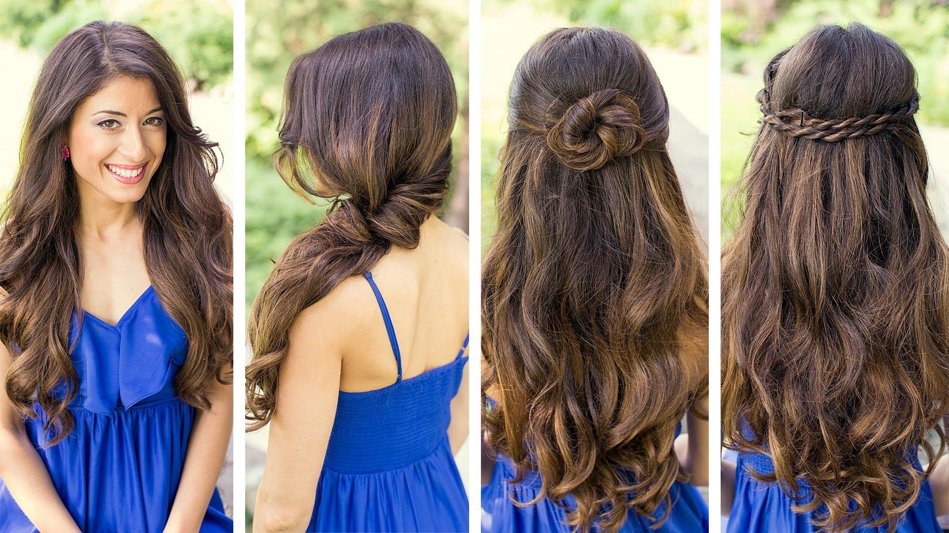 peinados sencillos trenzas belleza cabello largo fiestas maquillaje diferentes peinados peinados lindos coleccin