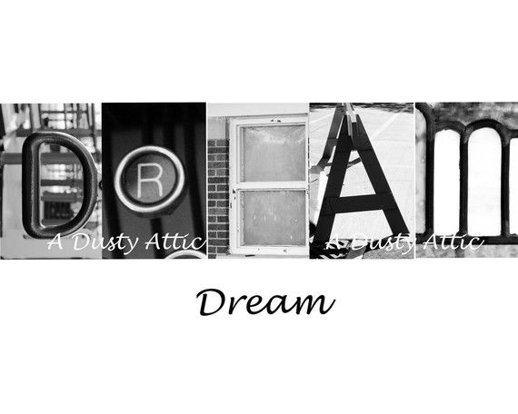 dream dream word art architectural alphabet letters by adustyframe 2000
