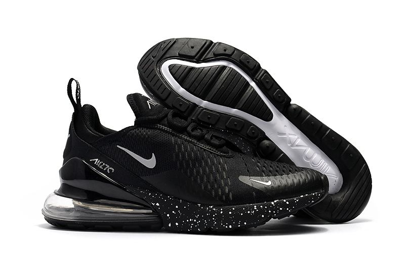 e66c46cc1763 Spring Summer 2018 Real Nike Air Max 270 Flyknit 2018 Casual Running Shoes  Sneakers Black White Starry Sky