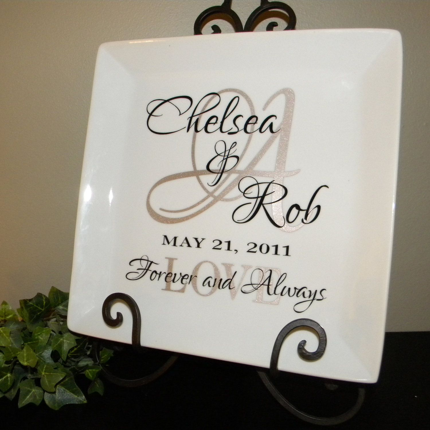 Personalized Wedding Gift couple's names and initial on