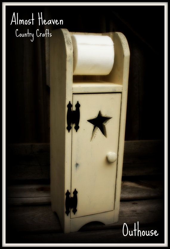 Primitive Toilet Paper Holder And Cabinet For The Home