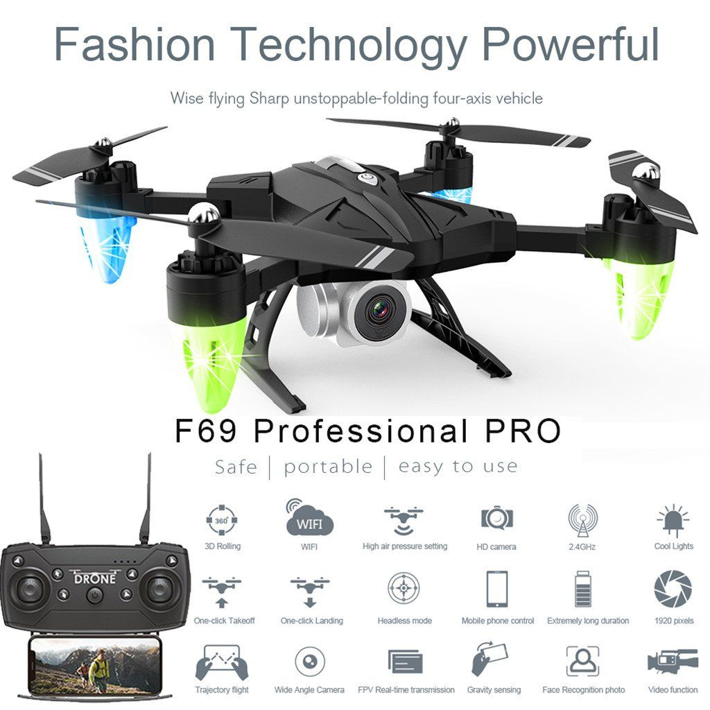 Photo of drone accessories F69Pro 2.4G 5MP 1080P Wide Angle – A
