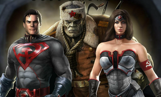 Injustice Gods Among Us Red Son Dlc Superman Wonder Woman Superhero Superman Red Son