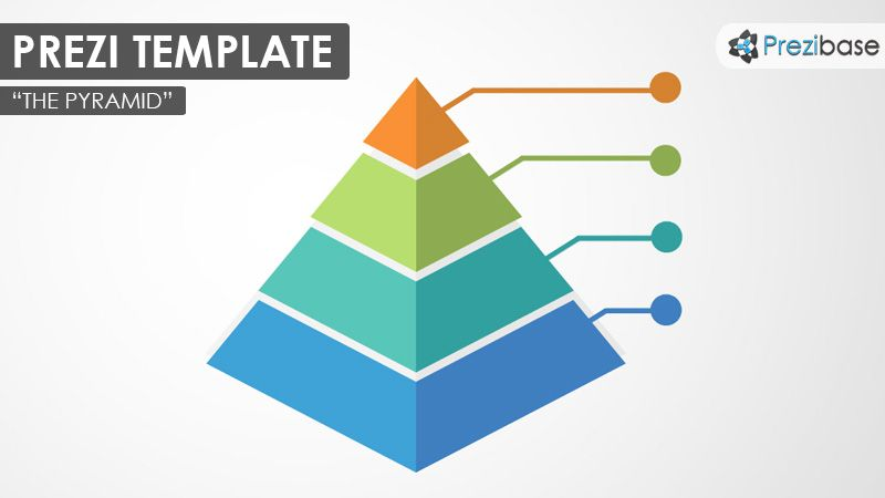 Prezi Template with a 3D pyramid chart graph concept Present your - number chart template