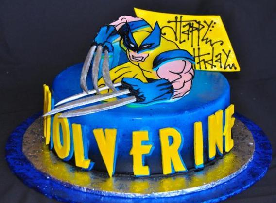 Awesome Wolverine Birthday Cake Wolverine Cake Birthday Cake Cake Personalised Birthday Cards Veneteletsinfo