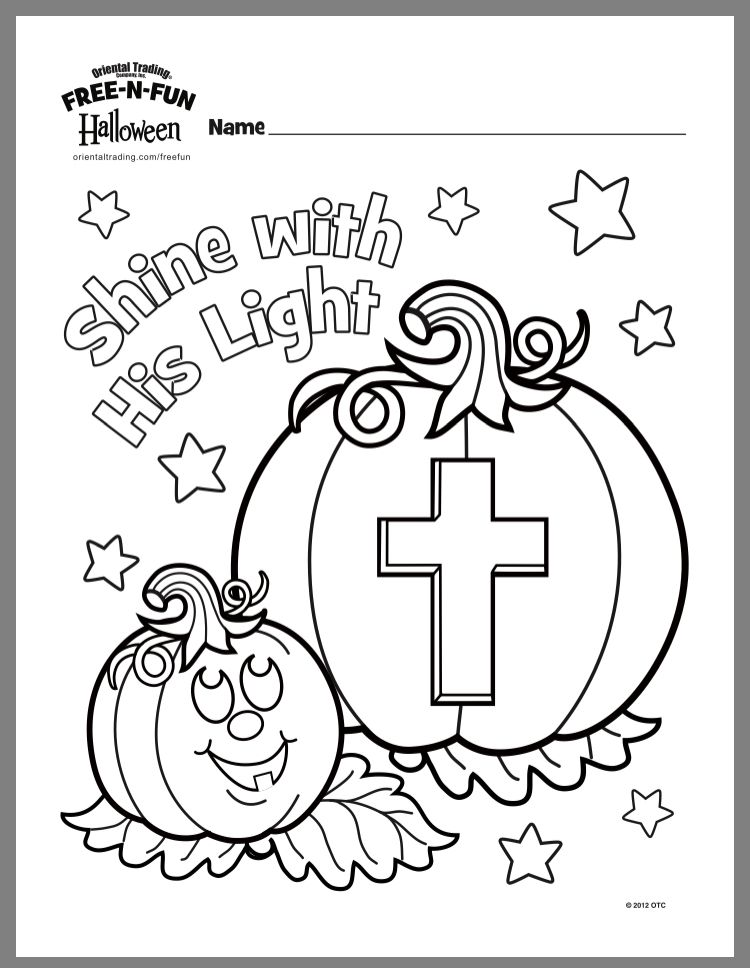 Pin By Lash Drewry On Sunday School Halloween Coloring Pages Sunday School Crafts Christian Halloween