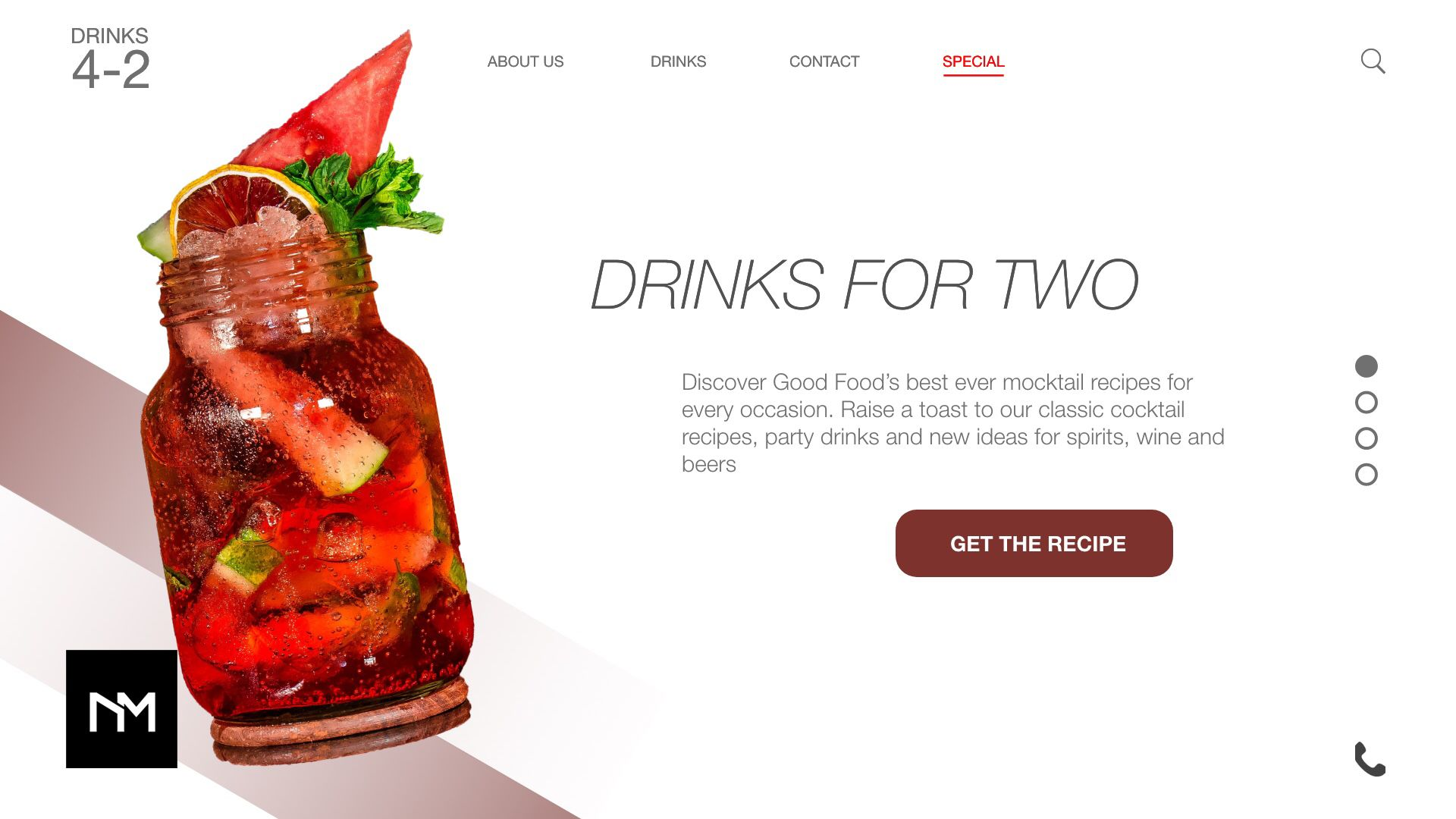 Nm Digital Design Strategy Marketing Web Design And Branding Agency In Birmingham Recipe Sites Mocktail Recipe Web Design
