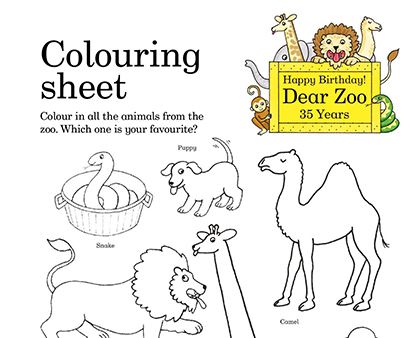 We Re Celebrating 35 Years Of Macmillan S Classic Storybook Dear Zoo By Rod Campbell You Can Join In The Celebrati Dear Zoo Dear Zoo Activities Zoo Activities