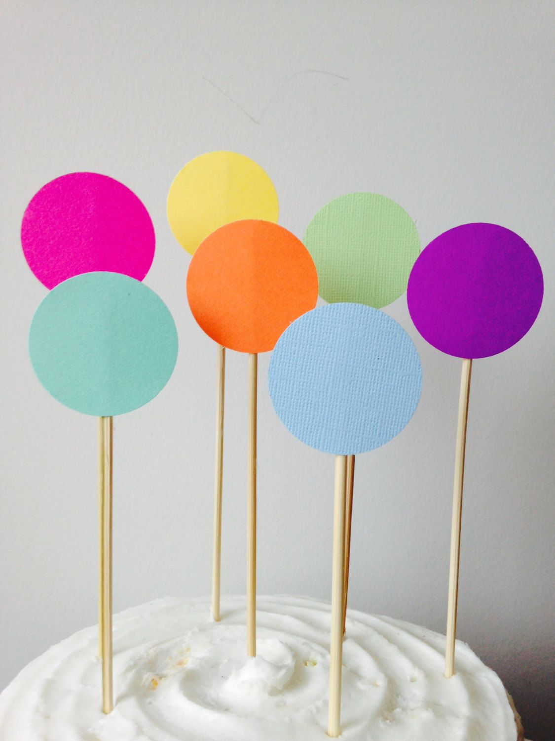 Circle cake toppers rainbow cake toppers rainbow