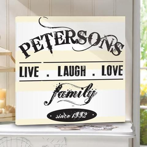 Personalized family name sign 9bad6e7cb