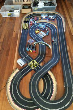 time sensitive huge sl5 digital scalextric track set bundle jadlam racing layout 13 cars 2. Black Bedroom Furniture Sets. Home Design Ideas
