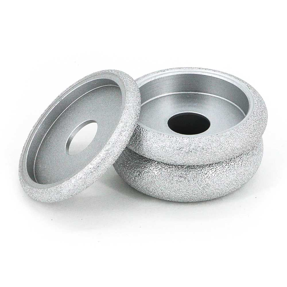 3 Brazed Diamond Semicircular Convex Edgeing Wheel For Grinding Quartz Stone Marble Granite Ceramic Artificial Stone Brazing Artificial Stone Glass Ceramic