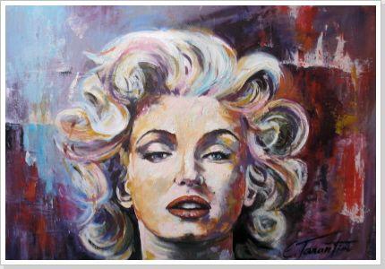 Marilyn - Acryl  50 x 70 cm