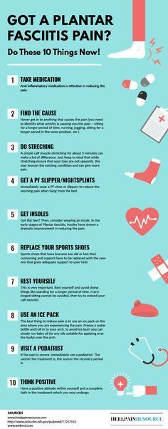 10 things to do when you are suffering from plantar fasciitis pain... Source: http://www.heelpainresource.com