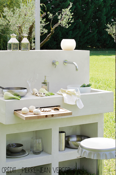 outdoor kitchen jardins extrieursdco jardinjardin maisonmon jardincuisine exterieurpetite - Photo Cuisine Exterieure Jardin