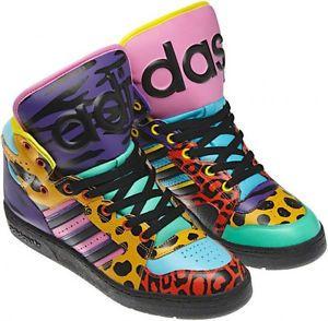 fe9628eba2eb Adidas-Jeremy-Scott-Instinct-Hi-black-sh-aq-animal-print-rainbow-size-8 -5-new